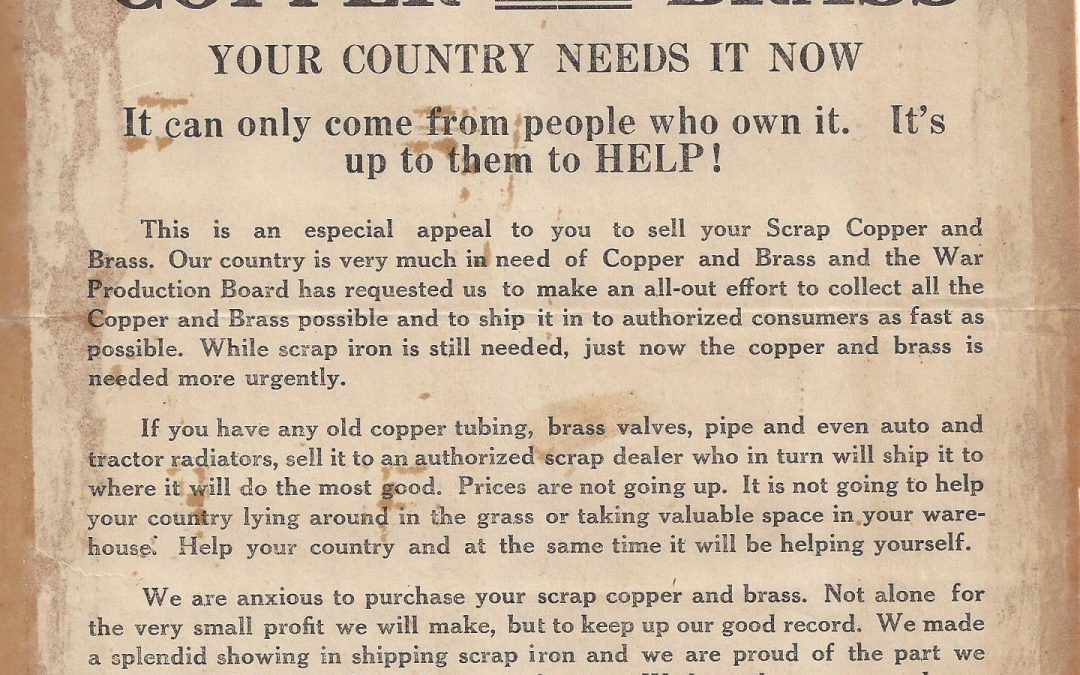 1942 – Scrap Iron Drive Ads for the US Military